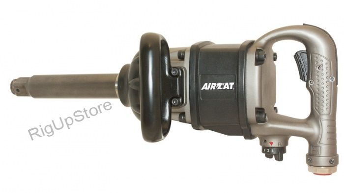 AIRCAT 1900-A 1-INCH DRIVE, 8-INCH ANVIL AIR IMPACT WRENCH, BLACK/SILVER